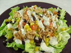 Eat Cake For Dinner: MY NEW FAVORITE SALAD - BBQ CHICKEN SALAD WITH CREAMY CILANTRO LIME DRESSING