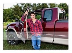 Northern high school senior boy with his truck.