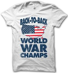 Who are the back to back World War champs? Merica! Go USA!