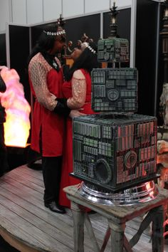 Three-tiered Borg wedding cake by Restoration Cake ---> what an awesome cake and wedding!