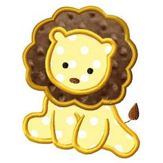 Baby Lion Applique --- Might be good to put on a cake with icing