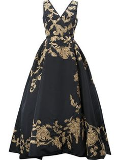 floral embroidered evening dress