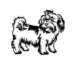 Shih Tzu HappensHigh Quality Shih Tzu Face Vinyl Dog Window Decal Sticker