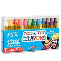 Dress-Up Toy Makeup - Dress Up America 12 Color Face Paint Safe  NonToxic Face and Body Crayons >>> To view further for this item, visit the image link.