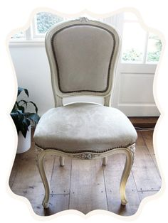Fabric painted with chalk paint.