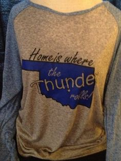 Home is where the Thunder fans are Thunder up by sturdistitches, $34.00