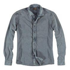 emilio adani Poloshirt langarm für 59,95€. Cooler Hemden Style, Angenehmer Warengriff, Modische Detaillösungen, Besondere Färbetechnik, Schmale Passform bei OTTO