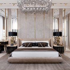 """Διαμέρισμα στο συγκρότημα κατοικιών """"Neva House"""" - MIRARTI Design / Architecture Master Room Design, Master Bedroom Interior, Room Design Bedroom, Home Room Design, Bedroom Decor, Modern Luxury Bedroom, Luxurious Bedrooms, Luxury Decor, Luxury Interior"""