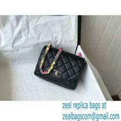 Chanel Lambskin Mixed Fibers Flap Bag AS2411 Black 2021