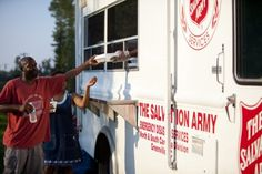 Salvation Army Canteen - making sure disaster victims get a meal