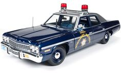 1975 Dodge Monaco Pursuit Nevada State Police Highway Patrol 1/18 Diecast Model Car (Auto World)