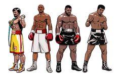"Manny ""Pacman"" Pacquiao, Floyd ""Money"" Mayweather, Iron Mike Tyson, and Muhammad Ali! Smoke Wallpaper, Marvel Wallpaper, Boxing Images, Biology Art, Boxing History, Kyokushin, Boxing Champions, Manny Pacquiao, Boxing T Shirts"