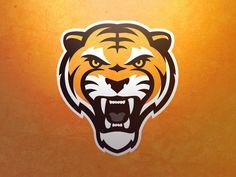 Self-directed tiger logo concept Logo Branding, Branding Design, Corporate Branding, Brand Identity, Funny Football Memes, Funny Memes, Tiger Logo, Photography Logo Design, Mascot Design