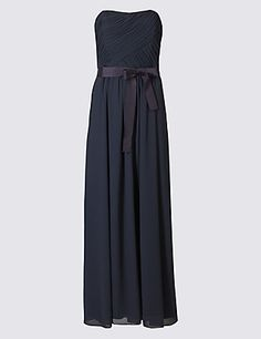 Pleated Maxi Dress with Belt | M&S