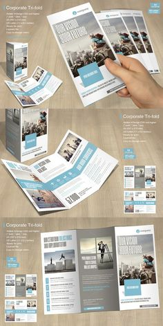 Tri-fold Corporate Brochure Vol. 4 Tri-fold Corporate Brochure Vol. Brochure Indesign, Template Brochure, Bi Fold Brochure, Brochure Layout, Corporate Brochure Design, Business Brochure, Creative Brochure, Event Corporate, Magazine Layout Design