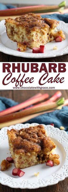 Crumb Rhubarb Coffee Cake rhubarb coffee cake- in 50 min. 1 egg, coconut oil, sub ricotta for sc.rhubarb coffee cake- in 50 min. 1 egg, coconut oil, sub ricotta for sc. Rhubarb Coffee Cakes, Rhubarb Desserts, Rhubarb Cake, Rhubarb Pudding, Rhubarb Kuchen Bars, Easy Rhubarb Recipes, Rhubarb Crunch, Rhubarb Bread, Breakfast And Brunch