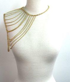 Gold Shoulder Chain - Skinny Bitch Apparel