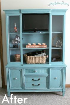 Restoration Hardware Inspired Gray China Hutch Cabinet converted ...