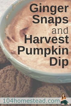 Harvest pumpkin dip is good not only on ginger snaps and vanilla cookies, it is wonderful on apples as a (semi-) healthy snack. It's like a little bite of pumpkin pie.