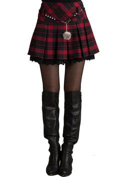 fa240dba627 Plaid Pleated High Waist Skirt