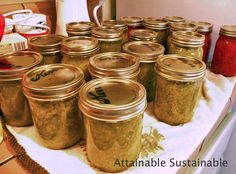 Home preservation allows you to store those green tomatoes as chow chow relish.