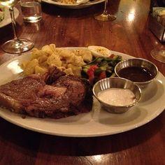 Prime Rib, Mac & Cheese & Asparagus Salad @ Founding Farmers