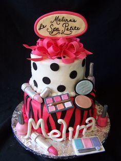 Spa Birthday Party Cake  Pinteres - Spa birthday party cake