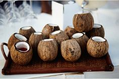 Cocktails on coconut cups!