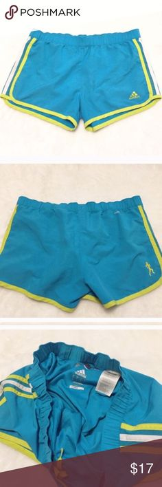 """❣BOGO 1/2 off❣ adidas blue marathon running shorts Flawless condition. Size small. 100% poly. Built-In undergarment. Interior waistband pocket. Measures 3"""" inseam, 9"""" rise, 29"""" stretch adjustable waist. ❣Ask me how to get BOGO 1/2 price!  ✖️I do NOT MODEL✖️ 🔴Bundle to save! 🔴NO TRADES. 🔴REASONABLE offers welcome via offer button. Smoke-free home. Fast shipping! adidas Shorts"""