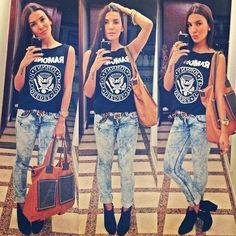 HYDRAULIC STYLE. Super cute way to wear Hydraulic Jeans!