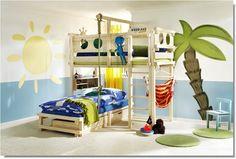 Lit superposé pour enfant en bois massif WOODLAND.  www.meubles-pour-enfants.com