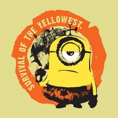 Minions Survival Of The Yellowest - Cup minionscup Minion Art, Minion Movie, My Minion, Minion Stuff, Cute Minions Wallpaper, Yellow Cups, Secret Life Of Pets, Silly Memes, Warm Fuzzies