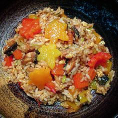 Unagi yakimeshi. Fried rice with grilled eel and eel sauce.