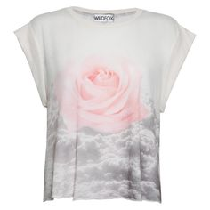 Wildfox Floral Heights Jagged Edge Tee - Print (£30) ❤ liked on Polyvore featuring tops, t-shirts, shirts, tees, print, american t shirt, vintage style t shirts, oversized t shirt, tee-shirt and crop t shirt
