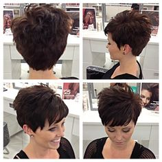 Beautiful Pixie Cuts For Older Women 201 - Hair Beauty - Marecipe Short Grey Hair, Short Hair With Bangs, Short Hair With Layers, Cute Hairstyles For Short Hair, Short Hair Cuts For Women, Pixie Hairstyles, Curly Hair Styles, Short Haircuts, Great Hair