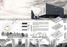 Projects presented to the camelot research & visitors center international architecture competition for students organized by archmedium< Interior Presentation, Presentation Board Design, Architecture Presentation Board, Project Presentation, Architectural Presentation, Architectural Models, Architecture Panel, Architecture Graphics, Architecture Drawings