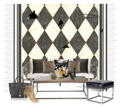 """Jibe 3 sofa..."" by gloriettequartet on Polyvore featuring interior, interiors, interior design, home, home decor, interior decorating, Ballard Designs, Blu Dot, Serge Mouille and Donna Karan"