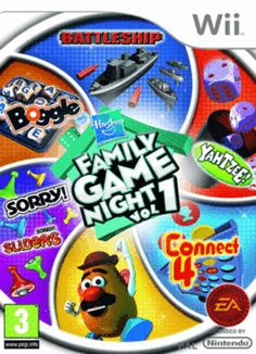Hasbro Family Game Night Wii Cover Art