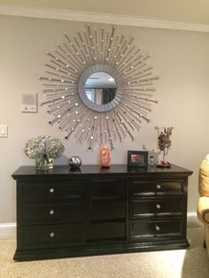 Easy DIY Sunburst mirror