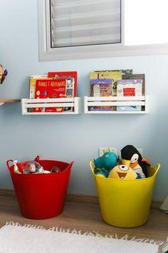 Kids room ideas – Home Decor Designs Baby Bedroom, Kids Bedroom, Baby Toy Storage, Book Storage, Storage Ideas, Toy Rooms, Kids Rooms, Deco Design, Baby Decor