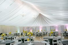 wedding tent ceiling draping - Google Search