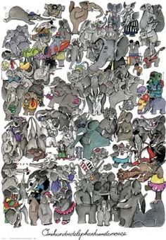 One Hundred Elephants and a Mouse by Kevin Whitlark from New York Graphic Society at Lewis Art Gallery