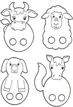 Super Animal Art Projects For Kids Finger Puppets Ideas Craft Activities For Kids, Preschool Crafts, Easter Crafts, Projects For Kids, Fun Crafts, Crafts For Kids, Easter Art, Farm Animal Crafts, Animal Art Projects