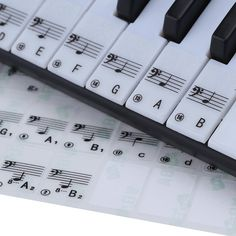 Transparent 49 61 Key Electronic Keyboard 88 Key Piano Stave Note Sticker for White Keys