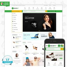 Scont - The Mega Store Template responsive theme for which dedicated to Fashion,Home ,appliances,Theme is responsive and supports all devices, user-friendly and fine-looking will be the best solution for your business. Computer Theme, Color Editor, Ecommerce Website Design, Best Templates, Website Themes, Home Based Business, Web Design Inspiration, Dinner Ware, Media Consoles