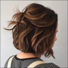 34 stunning examples of short brown hair highlights short brown hair . - 34 stunning examples of short brown hair highlights short brown hair highlights hairstyles - Brown Hair Balayage, Hair Color Balayage, Caramel Balayage Bob, Balayage Bob Brunette, Short Balayage, Caramel Blonde, Hair Lengths, Curly Hair Styles, New Hair