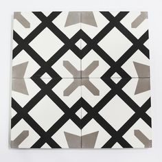 harold is a pragmatic pattern that still manages to crack a smile. with its rhythmic contrasts of star and cross this geometric pattern manages its geometry while sharing its sense of humor. Cross Patterns, Floor Patterns, Tile Patterns, Black And White Tiles, Black Metal, Concrete Cement, Cement Tiles, Marble Tiles, Mosaic Tiles