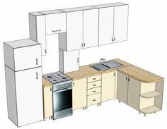 Кухня с прямым верхом (3)