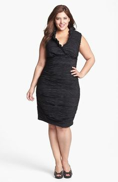 Calvin Klein Ruched Sheath Dress (Plus Size) | Nordstrom