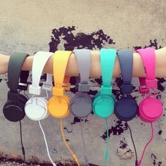 #URBANEARS arm party. #urbanoutfitters #armparty I will always want the yellow or turquoise..
